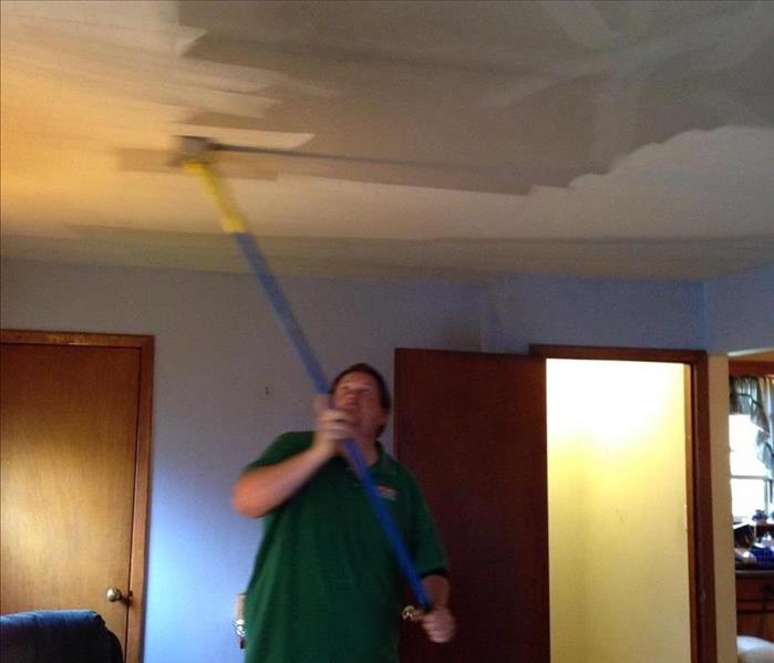 SERVPRO doing a thorough cleaning after a fire