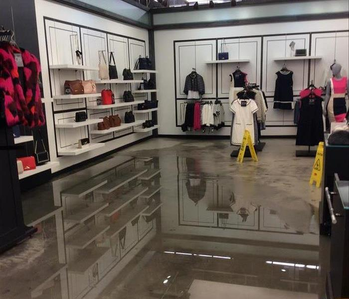 Retail store floods in the mall