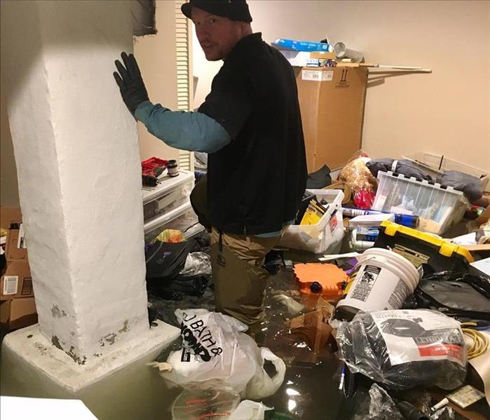 Water Damage Water Main Break Causes Extensive Damage