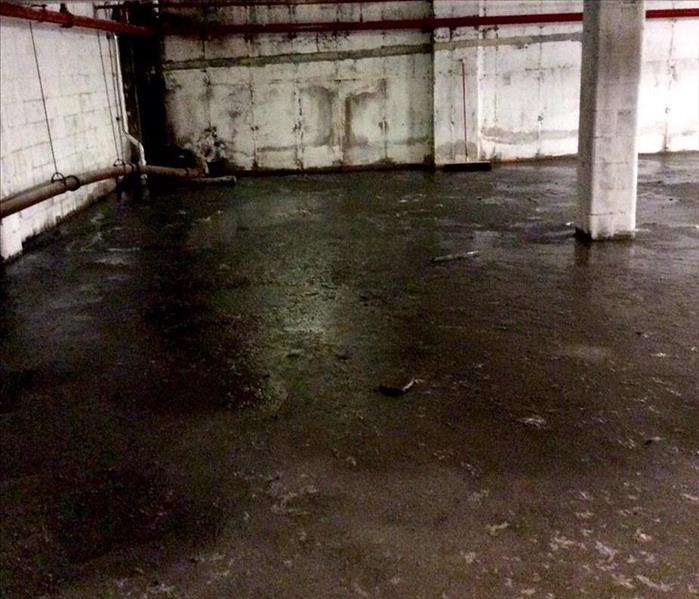 Commercial Sewer Backup In Commercial Basement