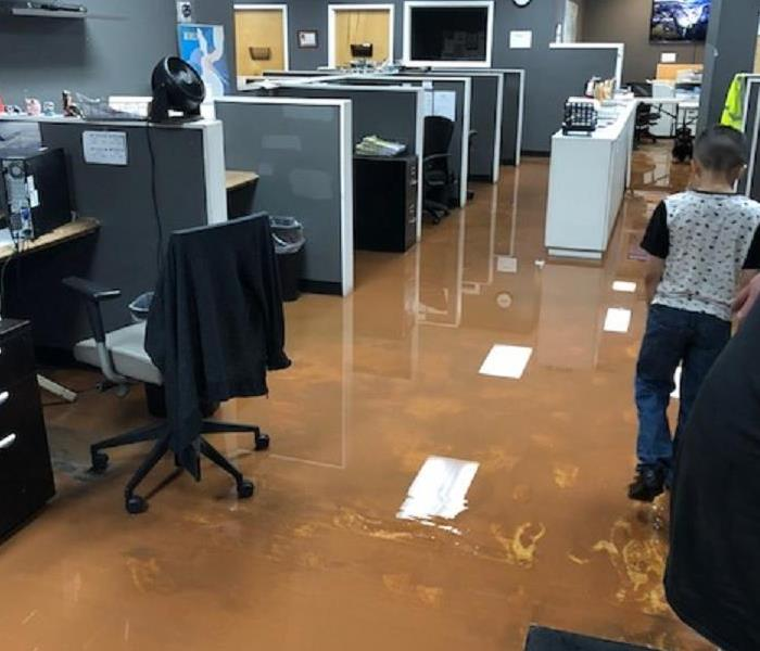 Water Damage to an Office Building